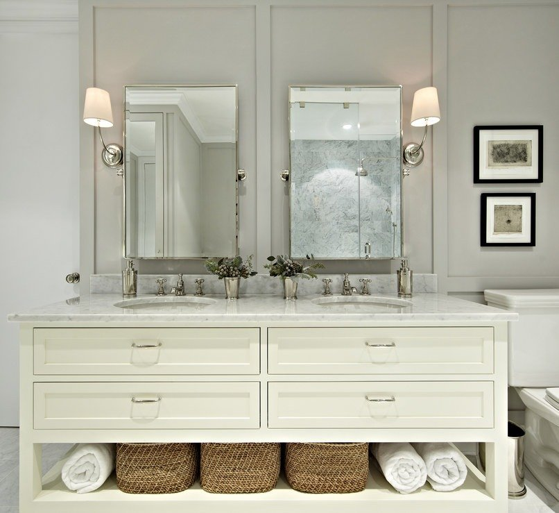 The new vanity, which features plenty of additional drawer space.